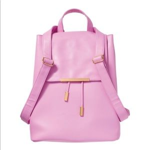 Nip pink patent leather backpack